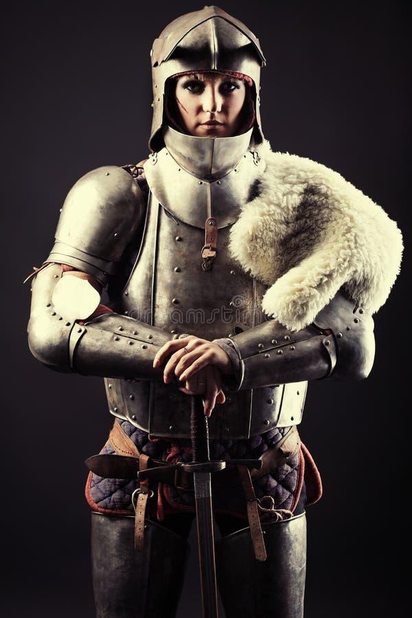 Mittelalterlicher Krieger lizenzfreie stockfotografie