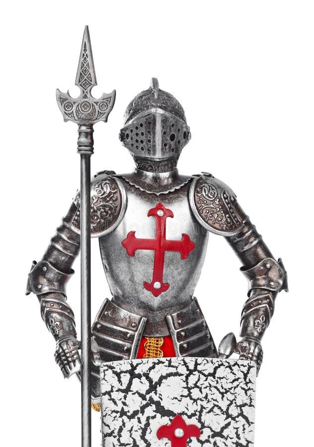Mittelalterlicher Ritter des Spielzeugs stockfoto