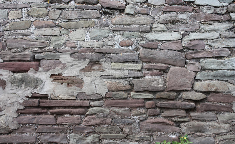 Mittelalterlicher Ziegelstein Wall71 stockbild