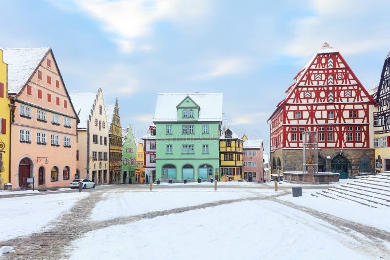 Mittelalterliches altes Rothenburg-ob der Tauber lizenzfreies stockbild