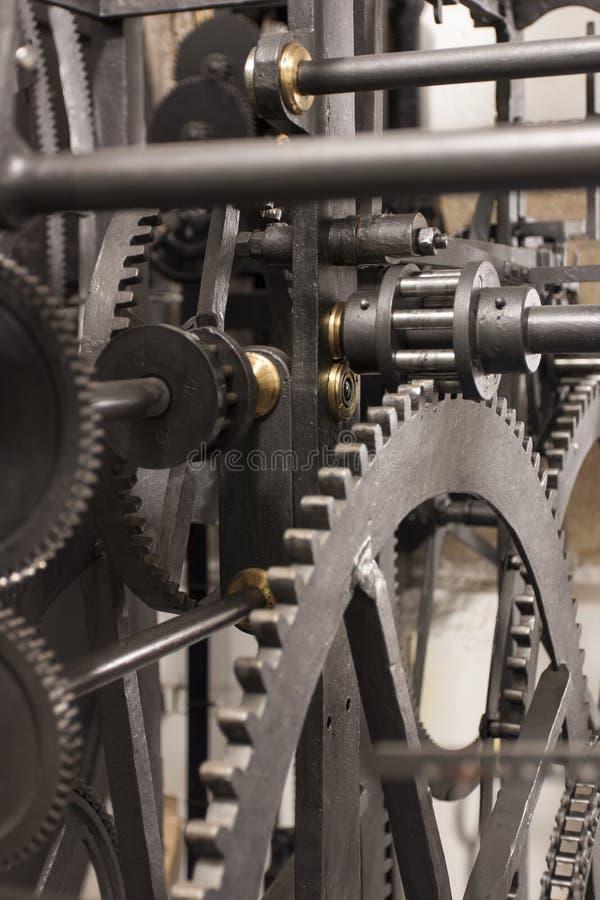 Mittelalterliches astronomisches Borduhr-Getriebe - Innenraum lizenzfreies stockfoto