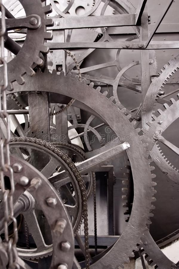 Mittelalterliches astronomisches Borduhr-Getriebe (Wheelwork) lizenzfreies stockbild