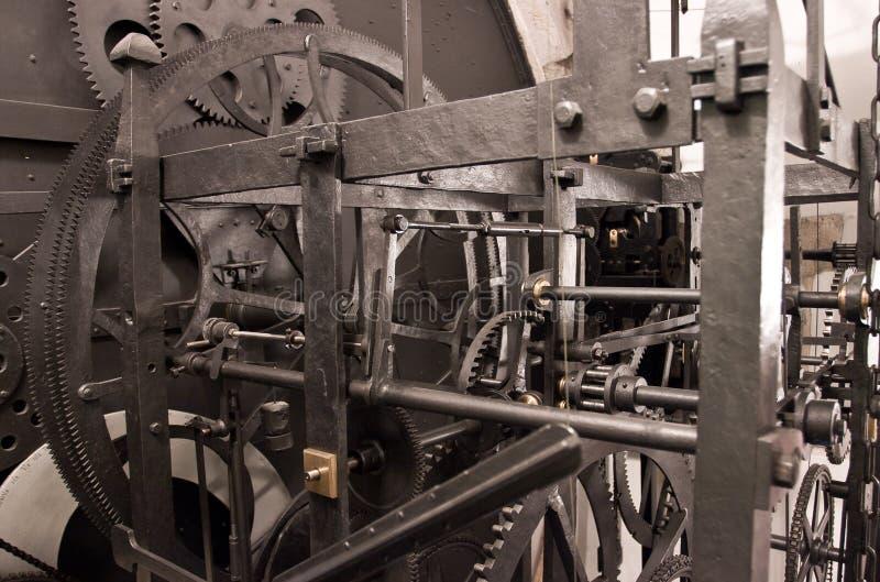 Mittelalterliches astronomisches Borduhrgetriebe - Innenraum stockbild