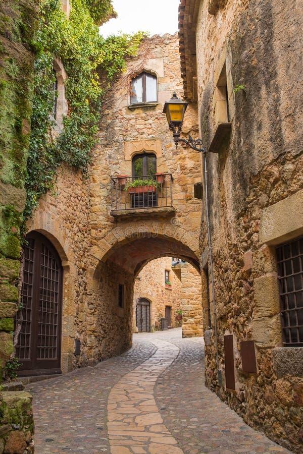 Mittelalterliches Dorf der Kumpel lizenzfreies stockbild