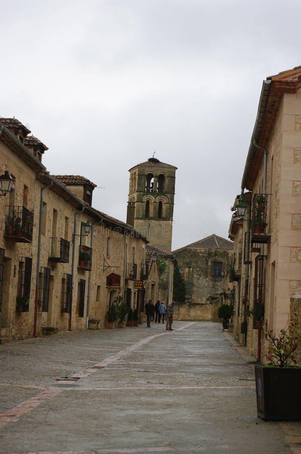 Mittelalterliches Dorf Pedraza, Spanien stockfoto