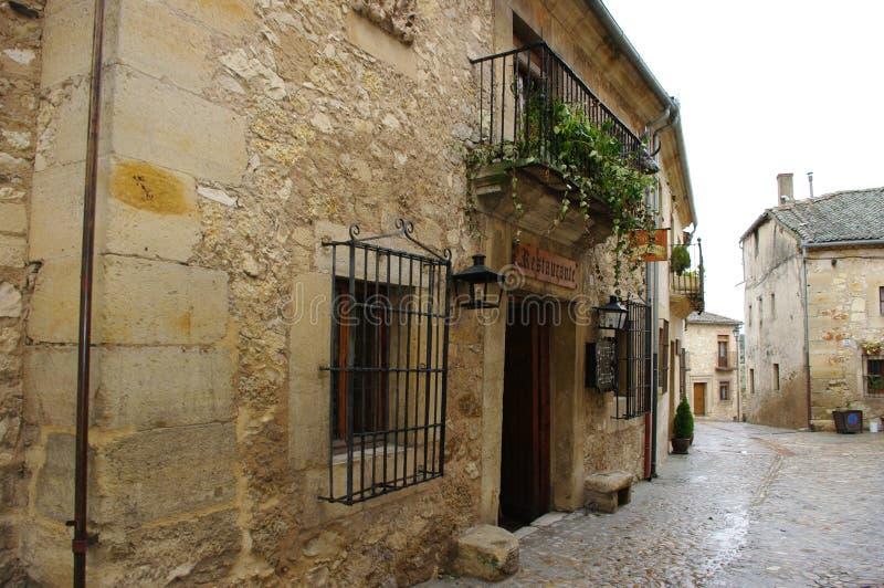 Mittelalterliches Dorf Pedraza, Spanien stockbilder