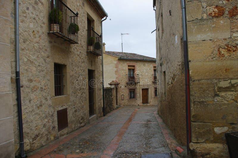 Mittelalterliches Dorf Pedraza, Spanien lizenzfreies stockfoto