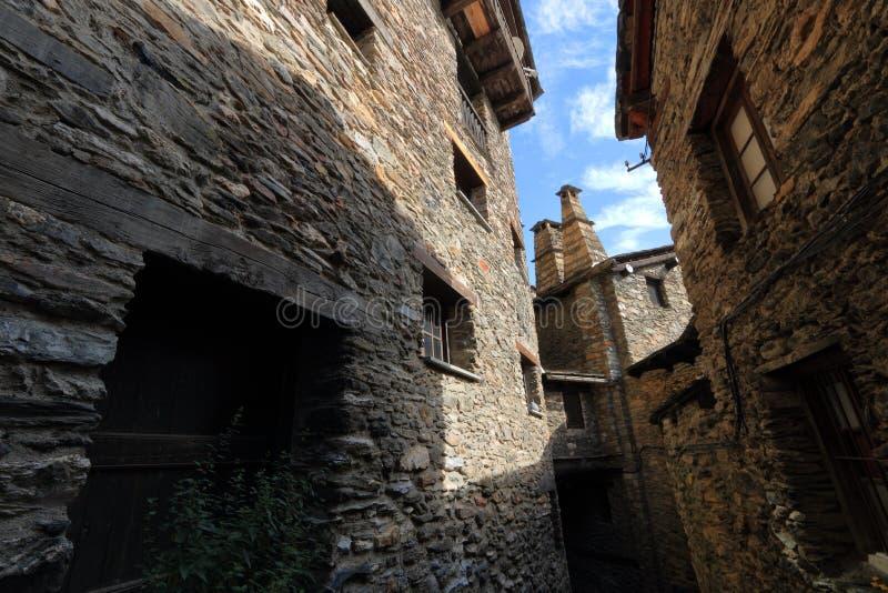 Mittelalterliches Dorf von Os de Civis, Spanien stockfoto