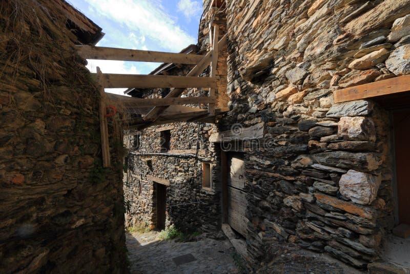 Mittelalterliches Dorf von Os de Civis, Spanien stockfotos