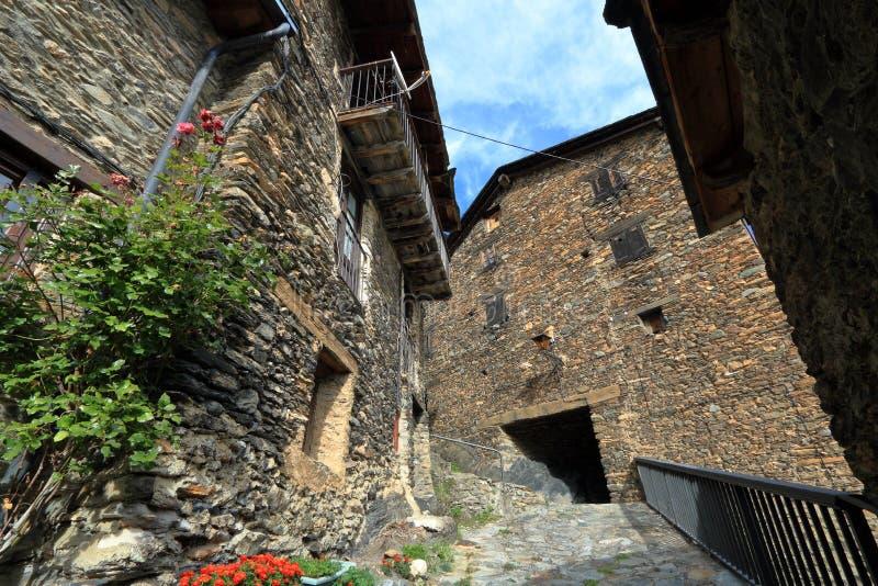 Mittelalterliches Dorf von Os de Civis, Spanien lizenzfreie stockfotografie