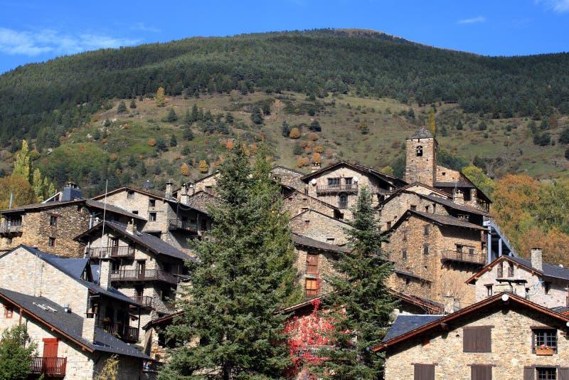 Mittelalterliches Dorf von Os de Civis, Spanien stockbild