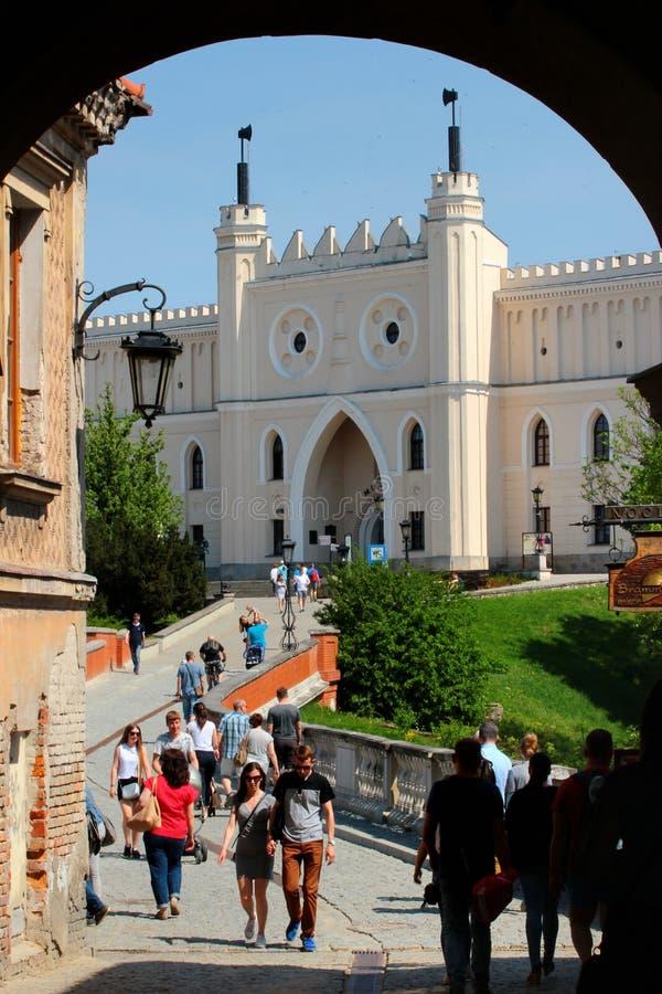Mittelalterliches königliches Schloss ÑˆÑ 'Lublin, Polen lizenzfreie stockbilder