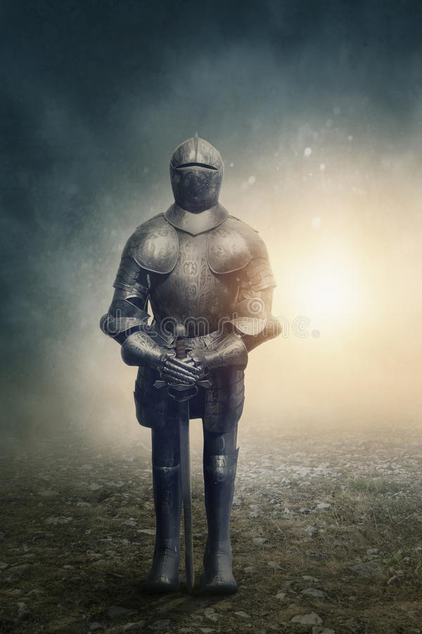 Mittelalterliches Knight stockfoto
