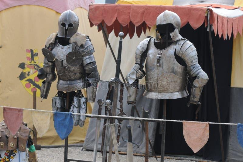 Mittelalterliches Lager stockbilder