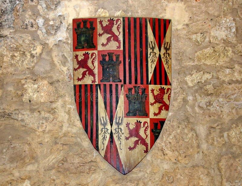 Mittelalterliches Schild lizenzfreie stockfotos