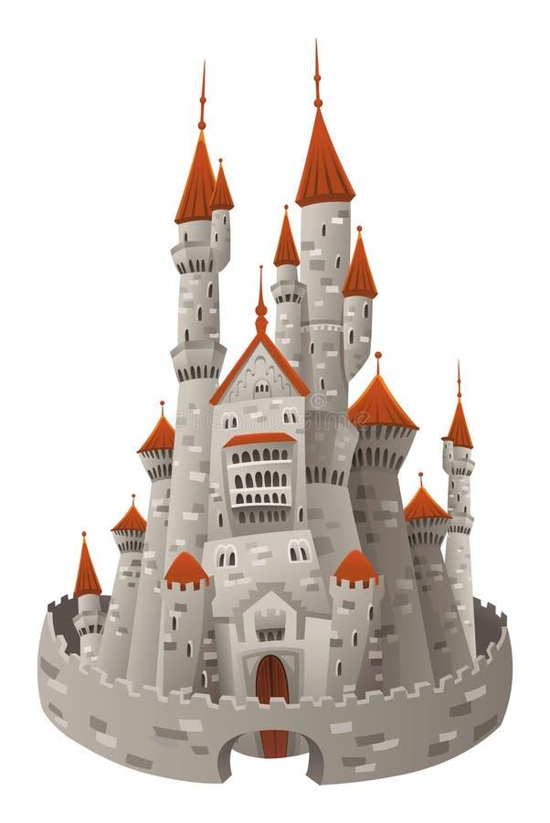 Mittelalterliches Schloss. stock abbildung