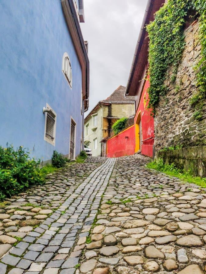 Mittelalterliches Sighisoara, Siebenbürgen, Rumänien Der meiste popul?re Platz in Vietnam lizenzfreies stockbild