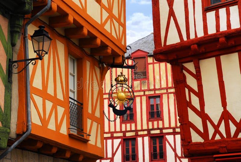 Mittelalterliches Vannes, Frankreich stockfotos