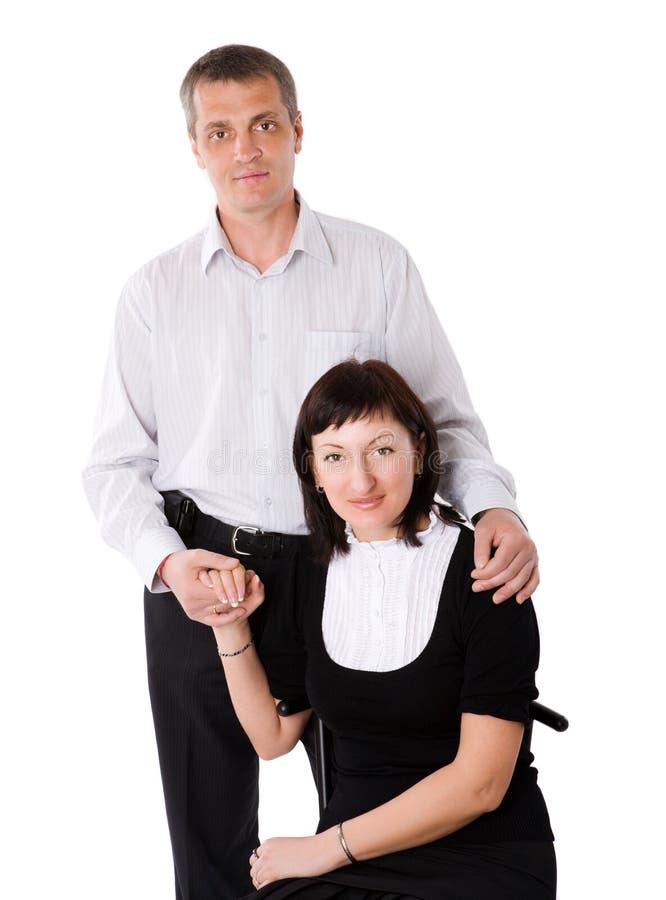 Mittelalterpaare stockfotografie