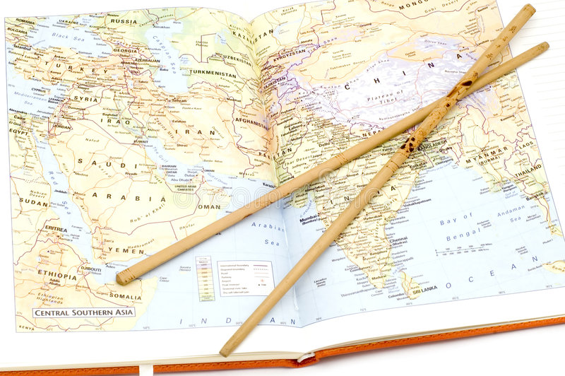 Mittelasien stockbild