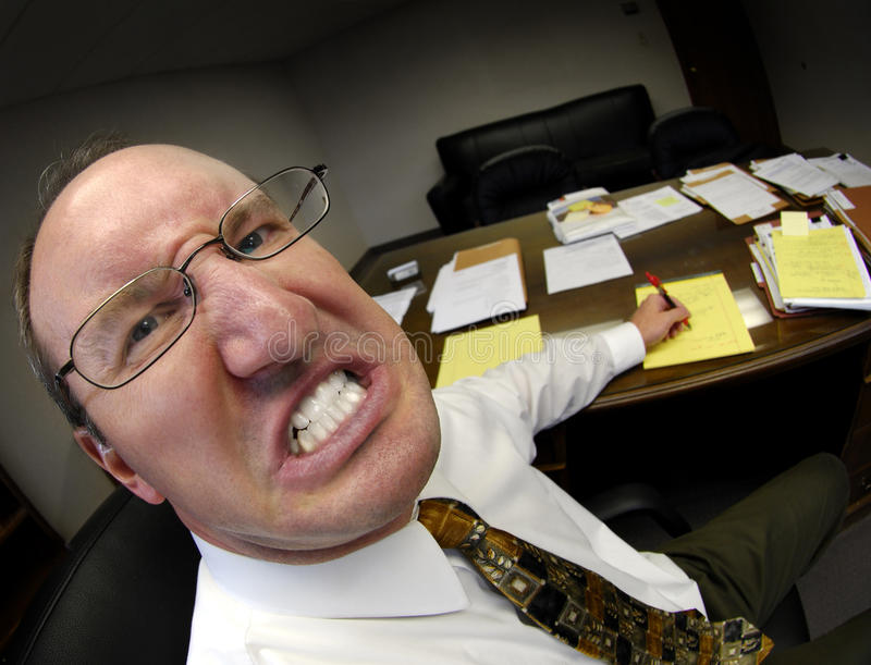 Mittelchef im Büro lizenzfreie stockbilder