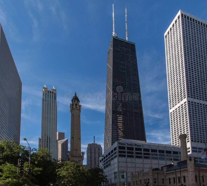 Mittelkontrollturm Chicago John-Hancock stockfotografie
