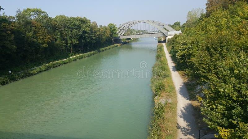Mittellandkanal στοκ φωτογραφία με δικαίωμα ελεύθερης χρήσης