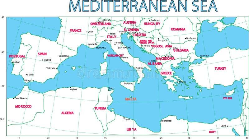 Mittelmeer. lizenzfreie abbildung