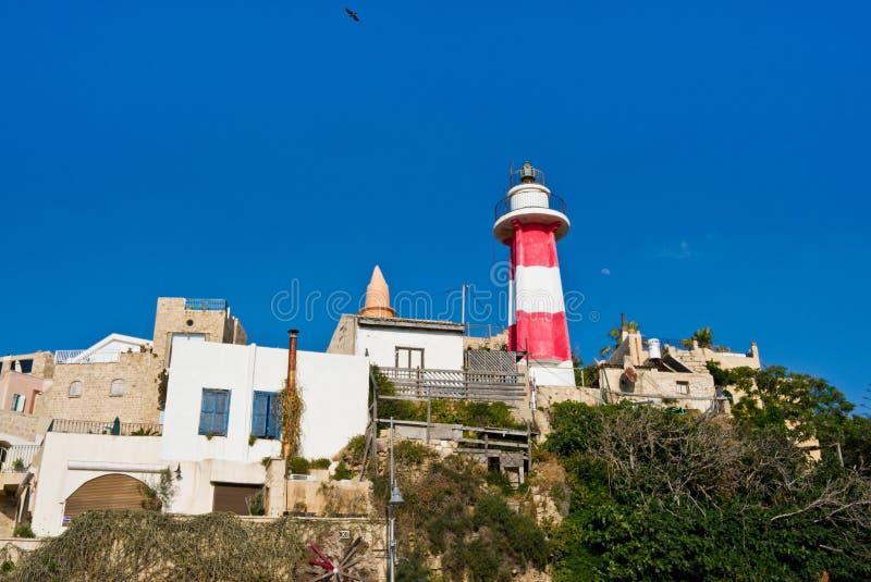 Mittelmeer-Leuchtturm stockfoto