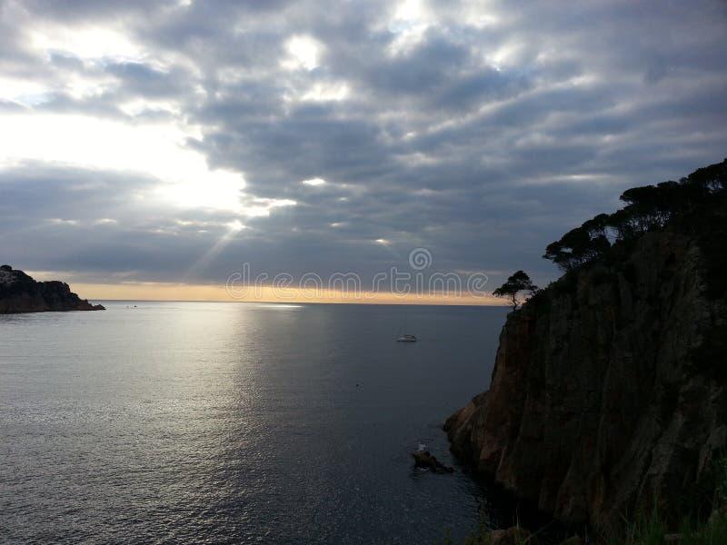 Mittelmeer von sant Feliu de Guixols, Spanien stockfotos