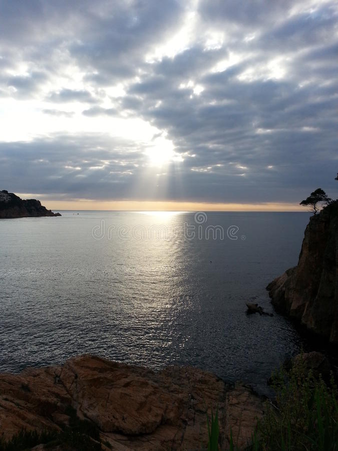 Mittelmeer von sant Feliu de Guixols, Spanien stockbild