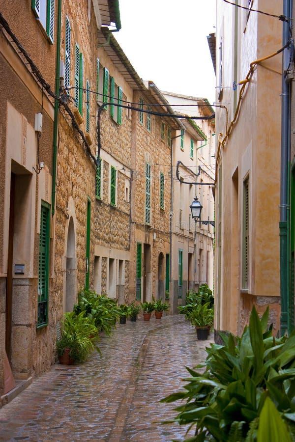 Mittelmeerhäuser der alten Art stockfotos