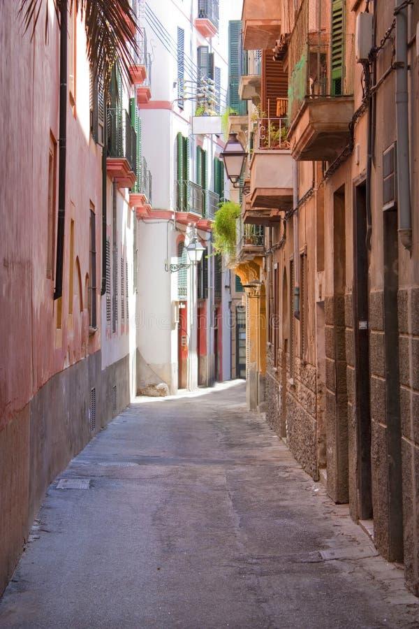 Mittelmeerhäuser der alten Art stockbilder