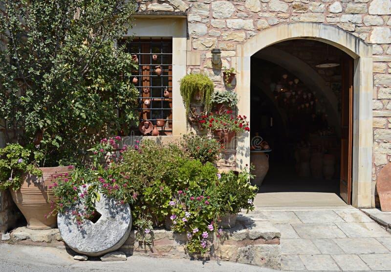 Mittelmeerhaus in Griechenland lizenzfreie stockfotografie