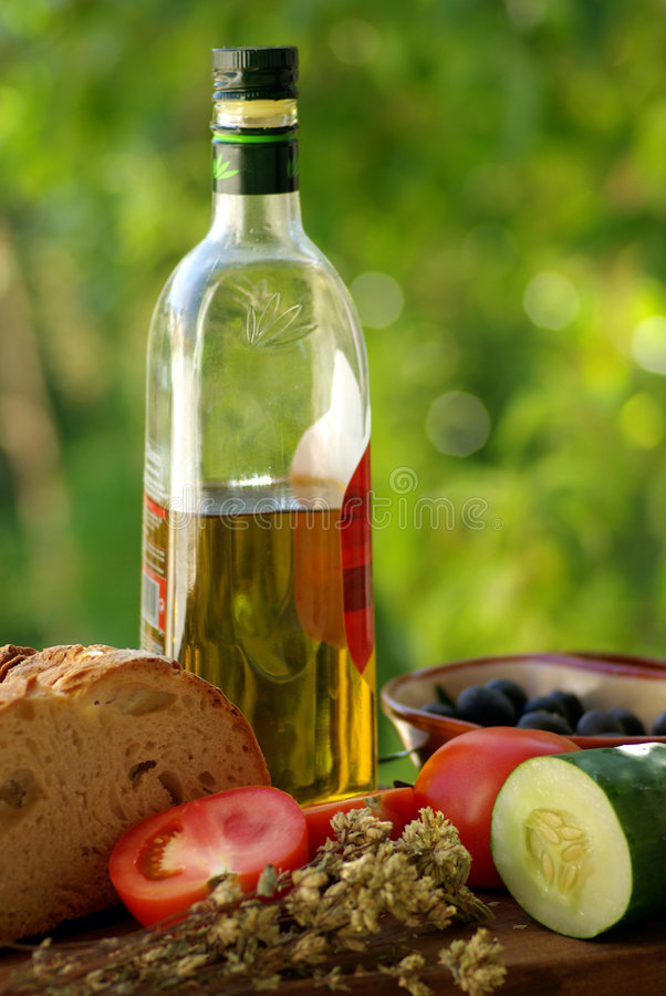 MittelmeerKüche. lizenzfreies stockfoto