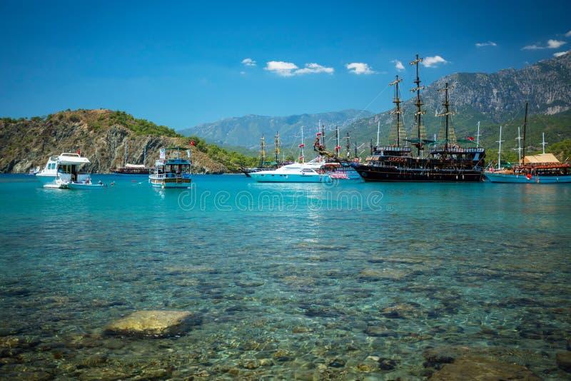 Mittelmeerküste, die Türkei Kemer stockfotos