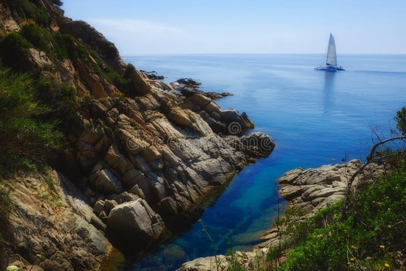 Mittelmeerküste in Spanien stockfoto
