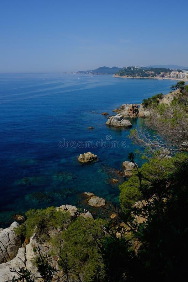 Mittelmeerküste in Spanien Panoramische Ansicht lizenzfreie stockbilder