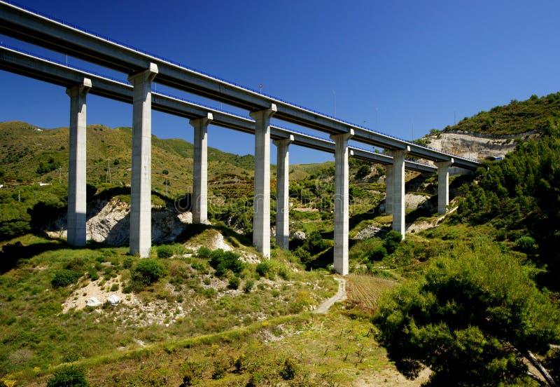 Mittelmeerküstendatenbahn in Spanien lizenzfreies stockfoto