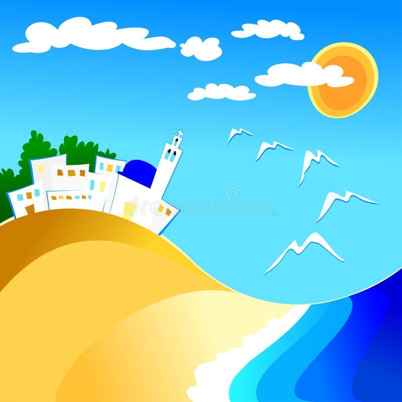 Mittelmeerland lizenzfreie abbildung