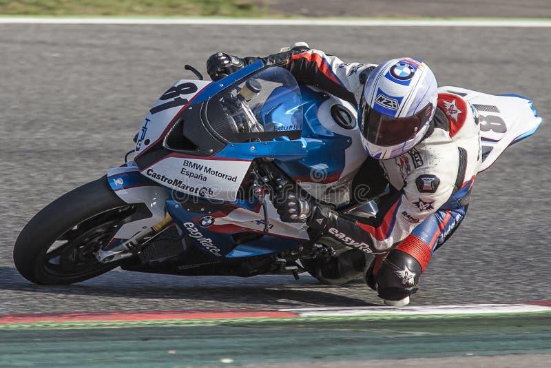Mittelmeermotorradfahren-Meisterschaft stockfoto