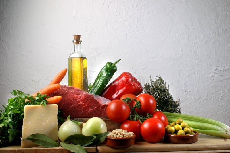 Mittelmeernahrung lizenzfreies stockbild