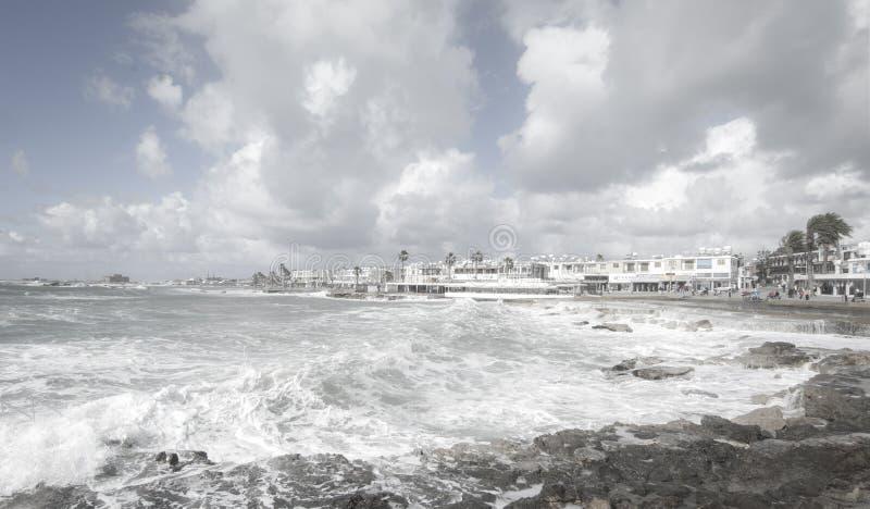 Mittelmeersturm stockfoto