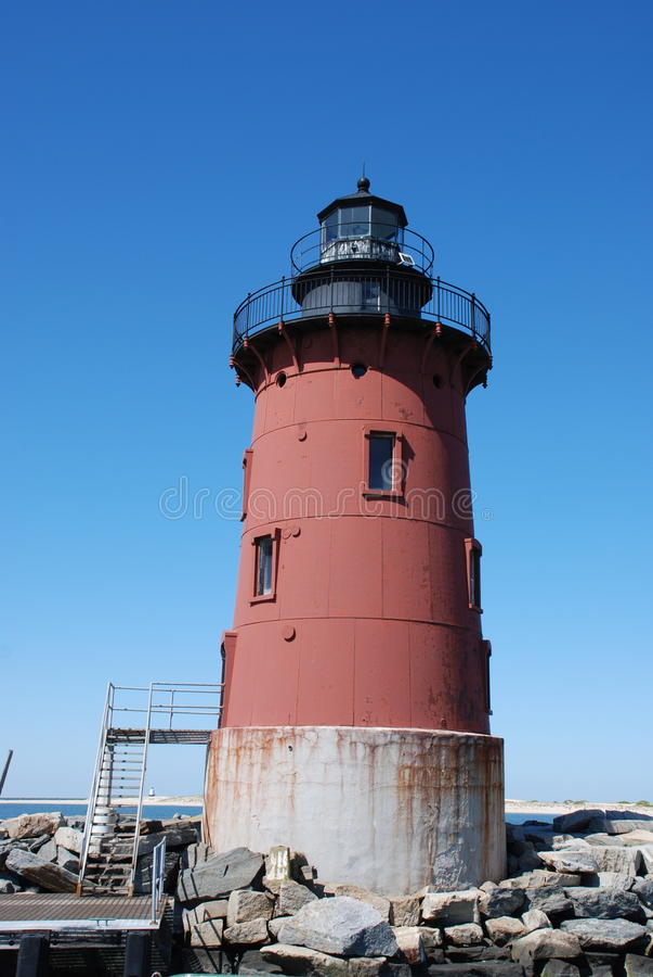Mittelwellenbrecher Leuchtturm, Lewes, Delaware stockfotografie