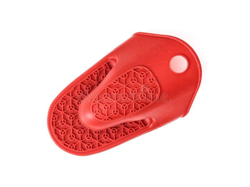 Mitten или кухонная рукавичка резиновой жары защитный на белом backgrou стоковая фотография rf
