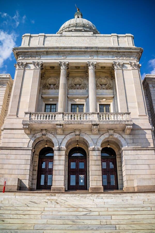 Mitten av administrationen i försyn, Rhode - ö royaltyfri fotografi