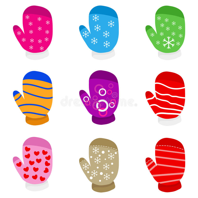 Free Mitten Collection Royalty Free Stock Photos - 89685608