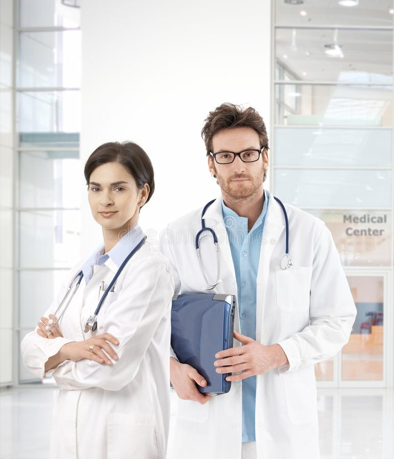 mitten doctors medicinskt barn arkivbilder