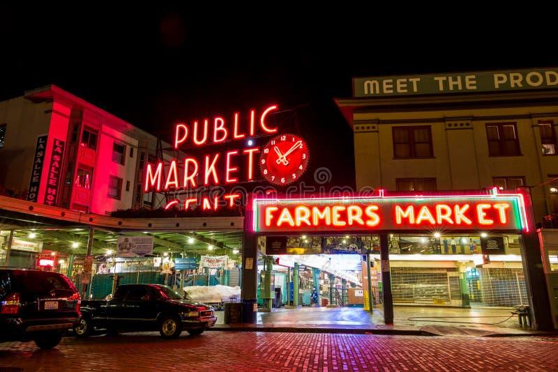 Mitten för offentlig marknad royaltyfri bild