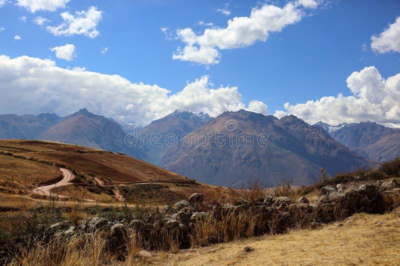 Mitten in Peru stockbilder